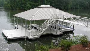 Flotation Systems hip roof boat dock H29