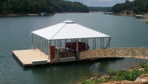 Flotation Systems hip roof boat dock H3