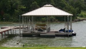 Flotation Systems hip roof boat dock H30