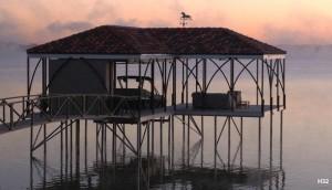 Flotation Systems hip roof boat dock H32
