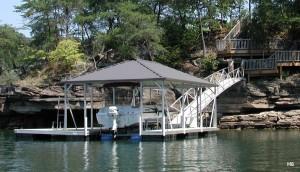 Flotation Systems hip roof boat dock H6