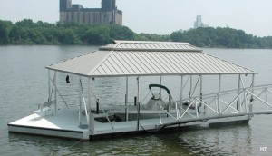 Flotation Systems hip roof boat dock H7