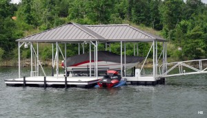 Flotation Systems hip roof boat dock H8