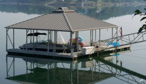 Flotation Systems hip roof boat dock H9