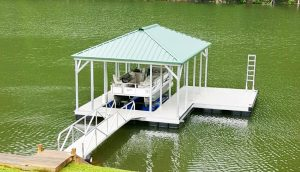 Flotation Systems, Inc. Hip Roof Aluminum Boat Docks