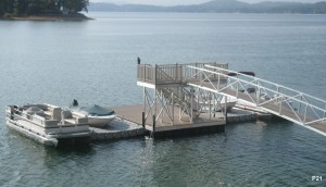 Flotation Systems dock pier floating pier p21