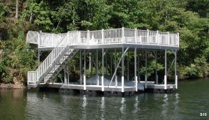 Flotation Systems sundeck boat dock S10