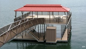 Flotation Systems sundeck boat dock S17