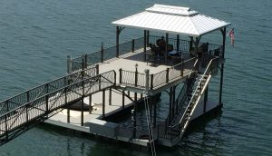 Flotation Systems Beaumont aluminum boat dock
