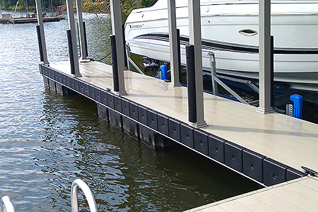 Boat Dock Accessories | Flotation Systems Aluminum Boat Docks