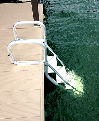 Flotation Systems AquaStair Dock Ladder Down