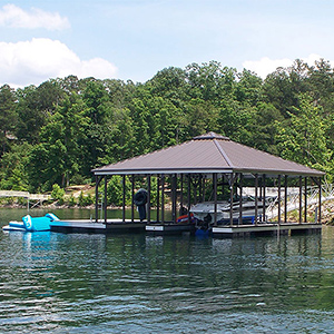 Flotation Systems Hip Roof Dock Style