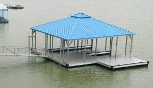Flotation Systems, Inc. Aluminum Boat Docks - Hip Roof Boat Dock - Dealer: Hunter Fant