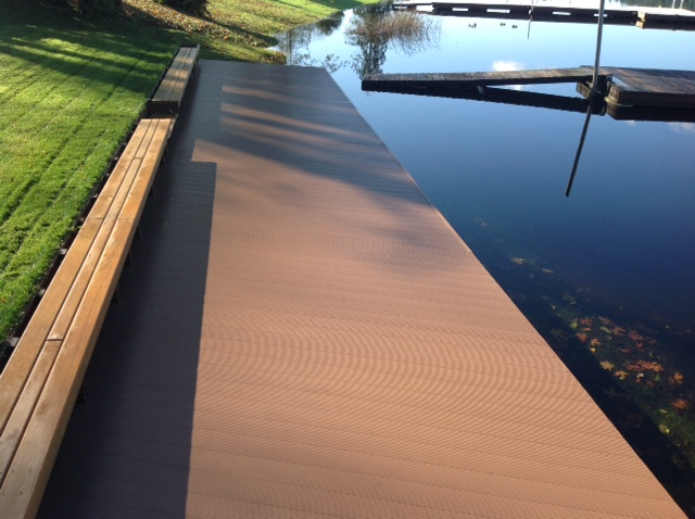 Flotation Systems Decking Refurbish Project - Color: Hearthstone