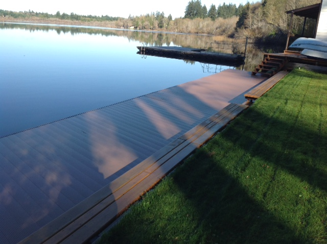 Flotation Systems Decking Refurbish Project - Color: Hearthstate