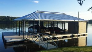 Flotation Systems Hip Roof Boat Dock Gallery | Flotation