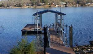 Flotation Systems, Inc Aluminum Boat Docks - Gable Roof Boat Dock - Shannon Burnett