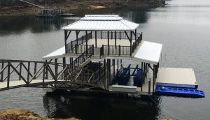 Designer Color Series - Silver Ridge - Sundeck Combo Boat Docks