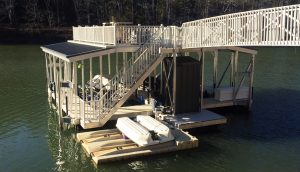 Flotation Systems, Inc. Aluminum Boat Docks - Sundeck Combo Boat Dock