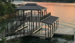 Flotation Systems, Inc. Aluminum Boat Docks - Sundeck Combo Boat Docks