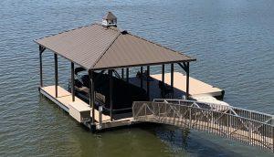 Flotation Systems, Inc. Aluminum Boat Docks - Hip Roof Boat Docks