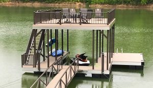 Flotation Systems, Inc. Aluminum Boat Docks - Sundeck Boat Dock