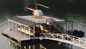 Flotation Systems, Inc. - Aluminum Boat Docks - Sundeck Combo Boat Docks
