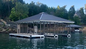 Flotation Systems Aluminum Boat Docks - Hip Roof Boat Dock - Smith Lake, Alabama