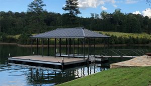 Flotation Systems Aluminum Boat Docks - Hip Roof Boat Dock - Lake Martin