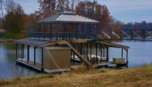 Flotation Systems Aluminum Boat Docks - Sundeck Combo Boat Dock