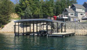 Flotation Systems, Inc. Aluminum Boat Docks - Sundeck Combo Boat Docks