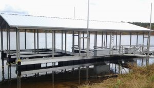 Flotation Systems Aluminum Boat Docks - Gable Roof Boat Docks