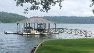 Flotation Systems Aluminum Boat Docks - Hip Roof Boat Docks